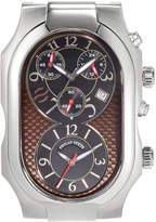 Philip Stein Teslar Large Signature Dual Time Zone Watch Head, Multi