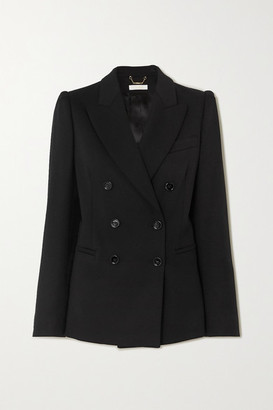 Chloé Double-breasted Wool-blend Blazer - Black