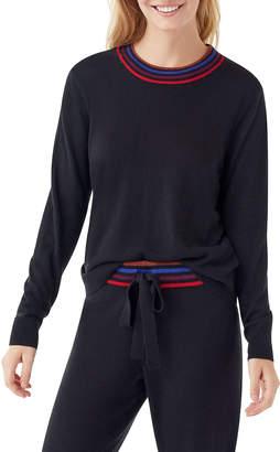 Splendid Brighton Cashmere-Blend Contrast-Neck Sweater