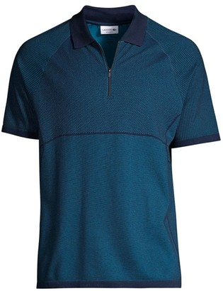 Lacoste Motion Regular-Fit Jacquard Zip Polo