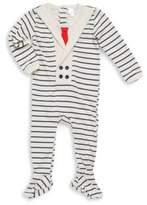 Petit Lem Baby's Striped Cotton Footie
