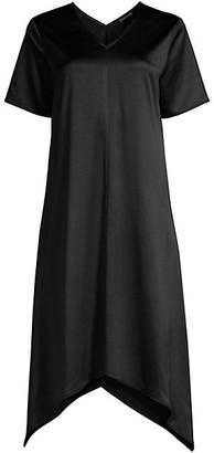 Eileen Fisher Asymmetric Short-Sleeve Dress