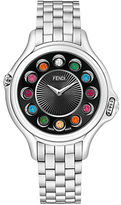 Fendi Ladies Crazy Carats Stainless Steel Watch with Rotating Dial 33 Multi Color Topaz