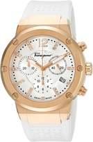 Salvatore Ferragamo Women's FIH030015 F-80 Analog Display Swiss Quartz White Watch