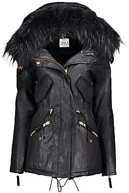 SAM. Women's Devon Fox Fur-Trim Parka