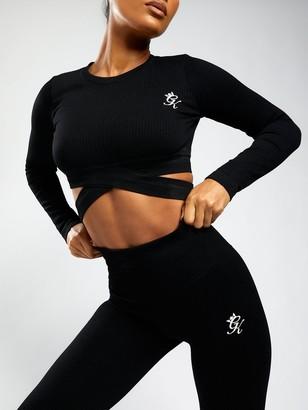 Gym King Sport Balance Rib Long Sleeve Crop Tee