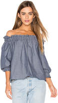 Eight Sixty Off Shoulder Top in Blue