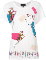 Emporio Armani fashion sketch T-shirt