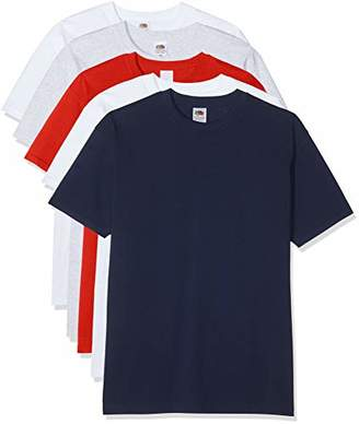 Fruit of the Loom Men's Premium Tee 5 Pack Regular Fit T-Shirt,Small (Manufacturer Size:S)