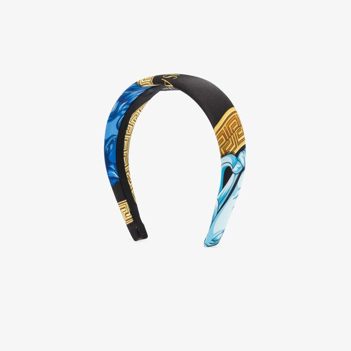 Thumbnail for your product : Versace Black Printed Headband