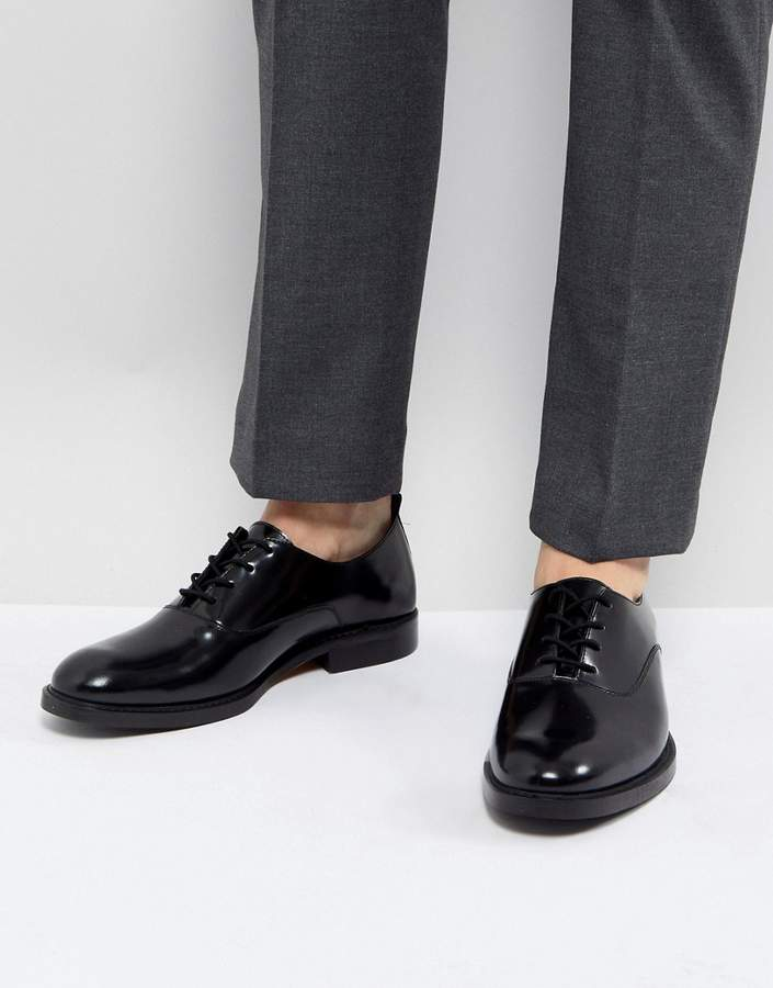 Zign Shoes Leather Lace Up Shoes In Black