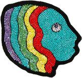 Olympia Le-Tan Mistress beaded bag patch - women - glass/Wool Felt - One Size