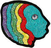 Olympia Le-Tan Mistress beaded bag patch - women - Wool Felt/glass - One Size