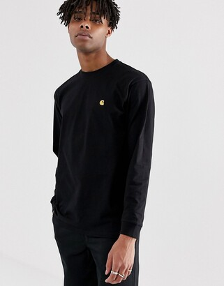 Carhartt Wip WIP long sleeve Chase t-shirt in black