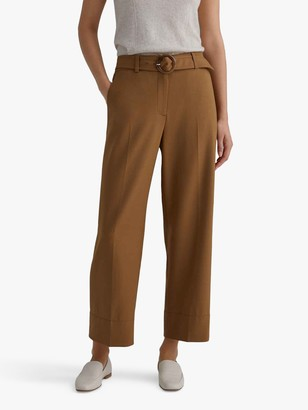 Club Monaco Round Buckle Cropped Trousers