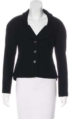 Chanel Wool Long Sleeve Blazer