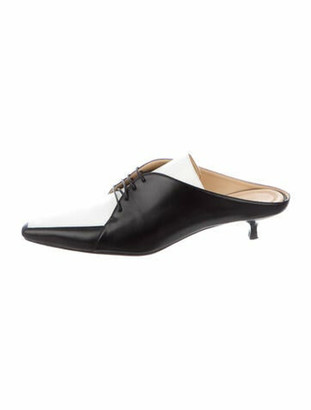 Rosie Assoulin Leather Mules Black