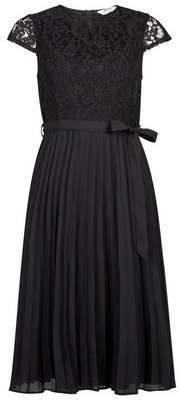 Dorothy Perkins Womens Petite Black Lace Midi Dress, Black