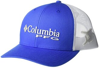 Columbia PFG Mesh Snap Back Ballcap (Vivid Blue/Marlin) Baseball Caps