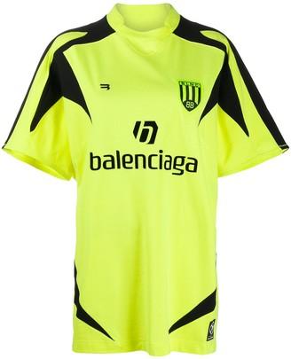 Balenciaga logo print football T-shirt