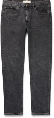 Tapered Organic Stretch-Denim Jeans