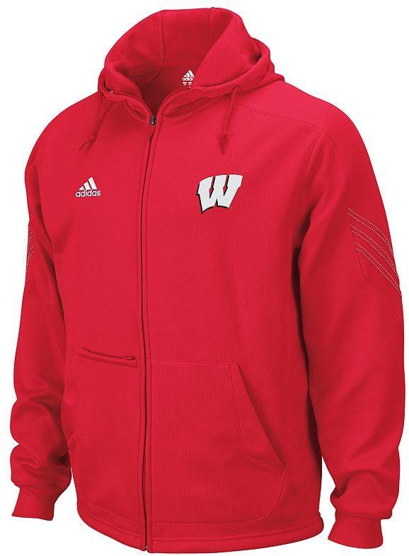 adidas wisconsin badgers fleece hoodie