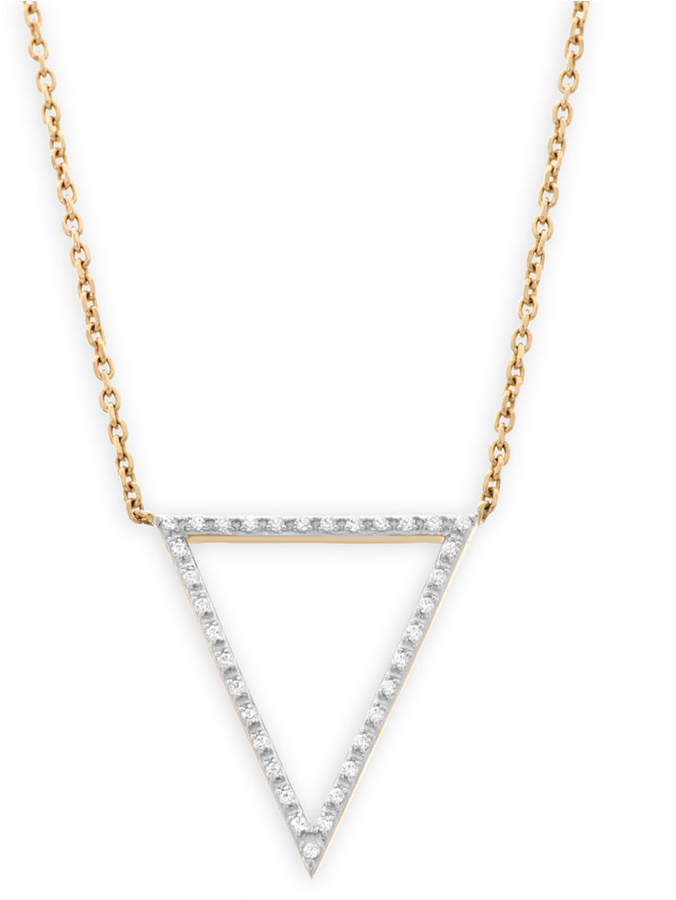 Wrapped Diamond Accent Triangle Pendant in 10K Gold, Created for Macy's