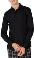 Topman Men's Satin Trim Woven Shirt