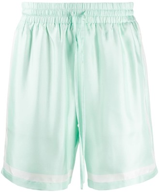Casablanca Drawstring Silk Shorts