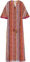Matthew Williamson Saya Printed Silk Kaftan - Bright orange