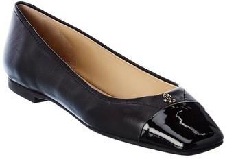 Jimmy Choo Gisela Leather Ballet Flat