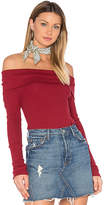 Bobi Modal Thermal Off Shoulder Top in Red. - size M (also in )