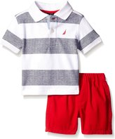 Nautica Baby 2 Piece Stripe Polo Set