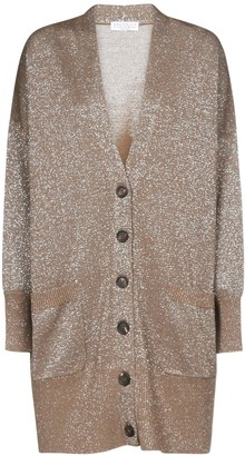 Brunello Cucinelli Glittered V-Neck Cardigan