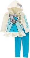Children's Apparel Network Cream & Teal Frozen Hoodie Set - Toddler & Girls