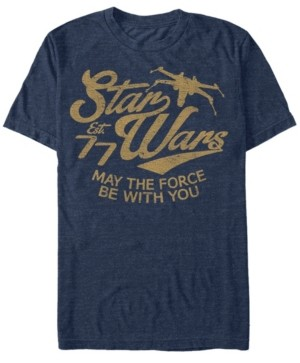 Star Wars Men's Classic May The Force Be With You Text Short Sleeve T-Shirt