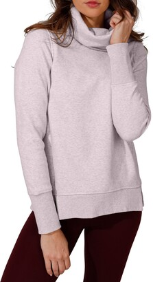 90 Degree By Reflex Funnel Neck Thumbhole Sleeve Pullover