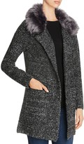 B Collection by Bobeau Hanne Faux Fur Sweater Coat