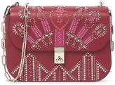 Valentino Heart Studded Leather Shoulder Bag
