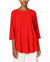 Eileen Fisher Jersey Knit Boat-Neck Top