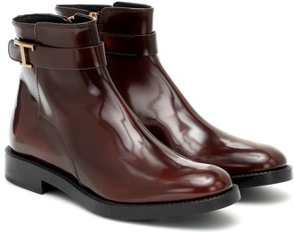 Tod's Timeless T leather ankle boots