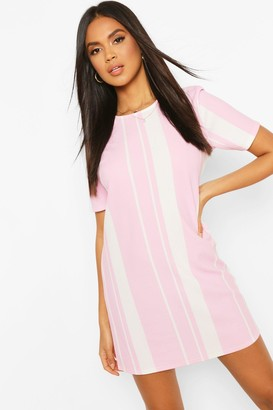 boohoo Mixed Stripe Shift Dress