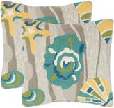 Safavieh Set Of 2 Beyond The Sea Indoor/Outdoor Pillows