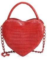 Nancy Gonzalez Crocodile Leather Heart Bag
