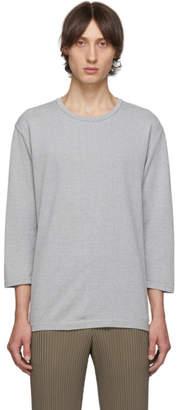 Issey Miyake Homme Plisse Grey Washi Three-Quarter Sleeve T-Shirt