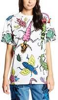 House of Holland Women's Bug Oversized Animal Print Short Sleeve T-Shirt