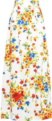 Miu Miu Drill floral print skirt