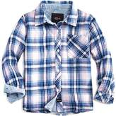 Rails Girls' Plaid Shirt with Striped Accents