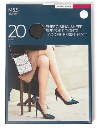 Marks and Spencer 20 Denier Energise Ladder Resist Tights