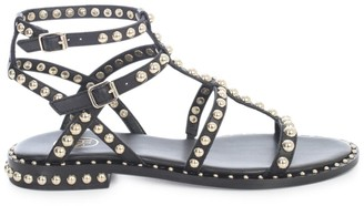 Ash Sandals W/circle Studs And 2 Straps